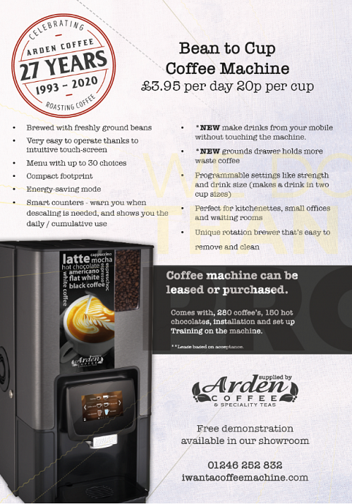 Bean to cup leaflet page